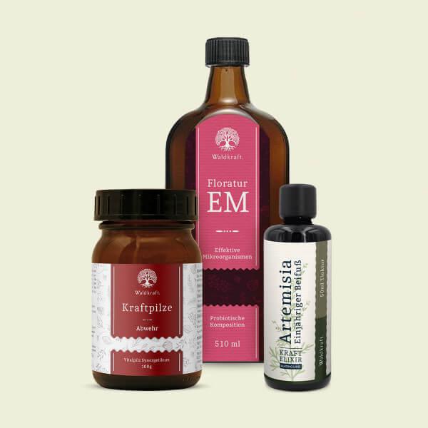 Waldkraft – Immun-Kur: Floratur EM, Artemisia und Kraftpilze Abwehr