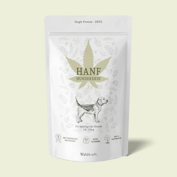 Hanf-Hundekekse für mittelgroße Hunde – 150 Kekse (Produktbild)