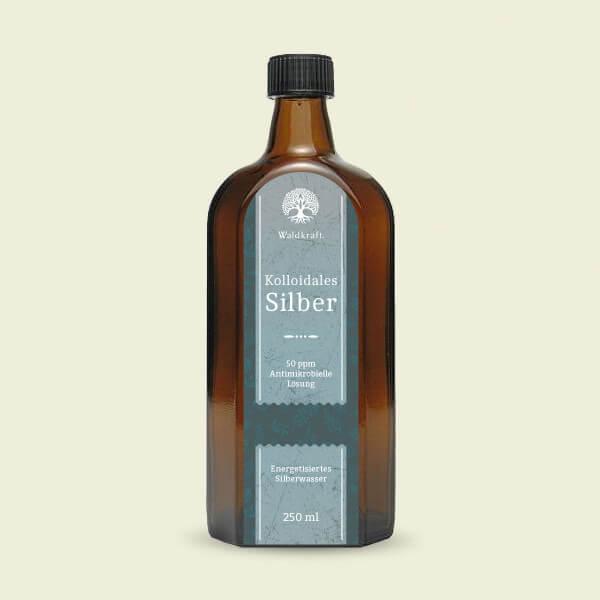 Waldkraft Kolloidales Silber 50 ppm - Antimikrobielle Lösung, 250 ml