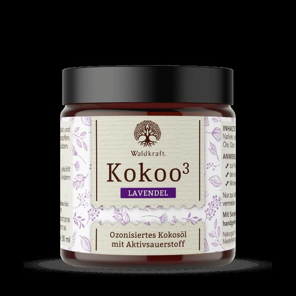 Kokoo³ Lavendel - Ozonisiertes Kokosöl mit Lavendel - 30ml