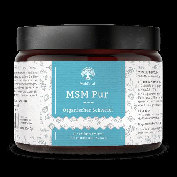 MSM Pur – Organischer Schwefel – 360g – OptiMSM für Hunde und Katzen